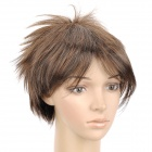 404 2/30 Fashion Man's Short Straight Hair Wig - Brown