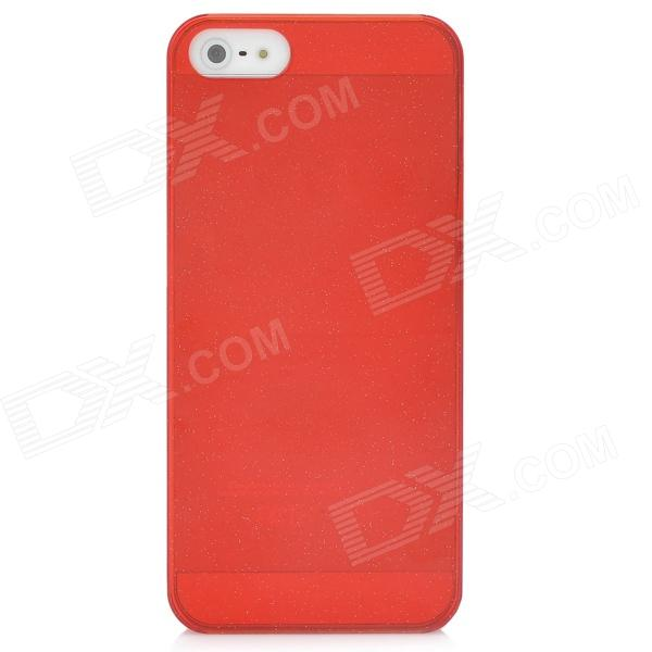 Protective Shimmering Powder Style Plastic Back Case for Iphone 5 / 5s - Red shimmering powder open mouth with tongue pattern plastic case for iphone 5 black red