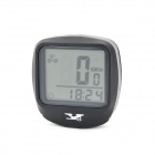 "1.5"" Screen Display Water Resistant PVC Bicycle Computer w/ Base + Sensor - Black (1 x CR2032)"
