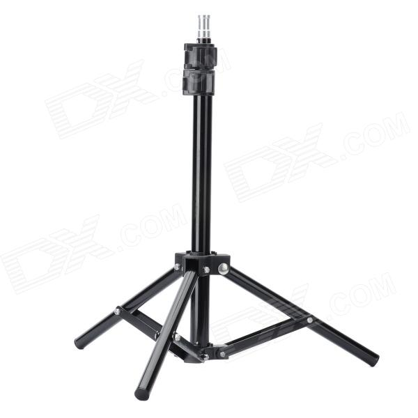Retractable 3-Section Magnalium Tripod Mount Stand for Lamp - Black Des Moines New products