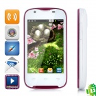 "A109G Android 2.3 GSM Bar Phone w/ 3.5"" Capacitive Screen, Quad-Band, Wi-Fi and Dual-SIM - White"