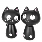 Cute Nodding Head Vinyl Cat Set - Black (2 PCS)