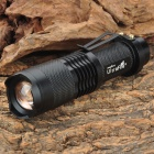 UltraFire SH98 Cree XM-L T6 910lm 3-Mode White Light Zooming Flashlight - Black (1 x 18650)