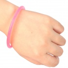 Glow-in-the-Dark Silicone Bracelet - Transparent + Yellow + Pink (100 PCS)