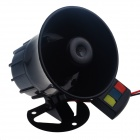 Motorcycle Security Alarm Siren Tri-Tone Horn Speaker - Black