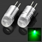 G4 1.5W 50lm SMD LED Green Light Car Steering / Decoration Lamp with Lens (2 PCS)