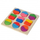 Baby Intelligence Wooden Geometry Toy - Multicolored