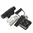 5mW Aluminium Alloy Red Dot Laser Scope w / Horoskop Clip + Dual Switch - Svart (1 x CR123A)