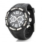 OTAGE TGA-1019 Sport Rubber Band Quartz Analog + Digital Waterproof Wrist Watch w/ Alarm - Black