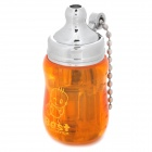 Mini Baby Bottle Style Windproof Butane Gas Lighter - Orange + Silver