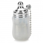 Mini Baby Bottle Style Windproof Butane Gas Lighter - Transparent + Silver