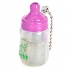 Mini Baby Bottle Style Windproof Butane Gas Lighter - Transparent + Purple