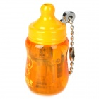 Mini Baby Bottle Style Windproof Butane Gas Lighter - Orange + Yellow