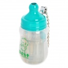 Mini Baby Bottle Style Windproof Butane Gas Lighter - Transparent + Green