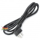 AC Power Adapter-Kabel für LED Strip - Schwarz (3-Flat-Pin Stecker / 1,5 m)