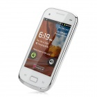"S6500 Android 4.0 GSM Bar Phone w/ 3.5"" Capacitive Screen, Quad-Band, Wi-Fi, TV and Dual-SIM - White"