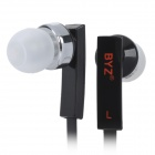 BYZ-S500 Flat In-Ear Earphone w/ Microphone for Iphone 5 - Black (3.5mm Plug / 120cm)