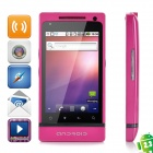 "T999 Android 2.3 GSM Bar Phone w / 3,5 ""kapazitiven Bildschirm, Quad-Band, Wi-Fi und Dual-SIM - Deep Pink"