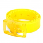 Fashion Plastic + Fragrance Waist Belt - Yellow