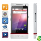 "T999 Android 2.3 GSM Bar Phone w/ 3.5"" Capacitive Screen, Quad-Band, Wi-Fi and Dual-SIM - White"