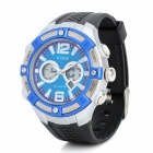 OTAGE TGA-1019 Sport Rubber Band Quartz Analog + Digital Waterproof Wrist Watch w/ Alarm - Blue