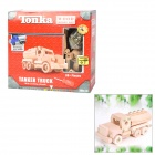 WT708 Educational DIY Wooden Assembly Tanker Truck Toy w/ Screwdriver - Wood Color
