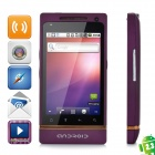 "T999 Android 2.3 GSM Bar Phone w / 3,5 ""kapazitiven Bildschirm, Quad-Band, Wi-Fi-und Dual-SIM - Purple"