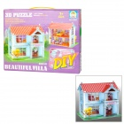 CALEBOU 2801 Beautiful Villa Style DIY 3D Puzzle Brains Toys - Colorful
