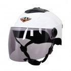 Cool Motorcycle Outdoor Sports Racing Helmet - White + Black