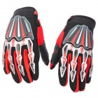 Scoyco Stylish Full-Finger Gloves - Black + Red (Pair / Size M)