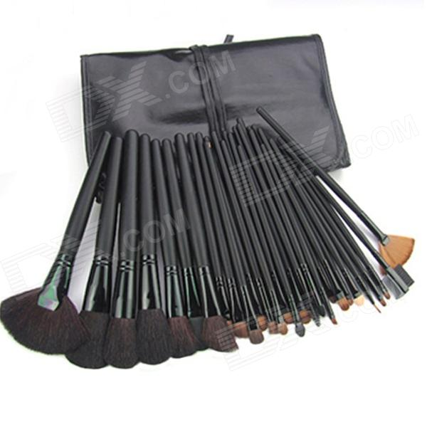 FC32003 Portable 32-in-1 Cosmetic Makeup Brushes Set - Black мультиварка marta mt 4314 темный агат