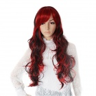 Finding Color CDW001 Fashion Lady's Long Curly Hair Wig - Red