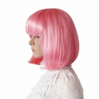 Finding Color CDW006 Fashion Short Straight BOB Hair Style Wig - Pink