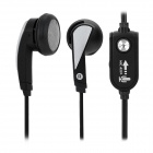 SM-009M.V Stylish Earphone w/ Microphone - Black (3.5MM Plug)