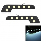 6W 450lm 6-LED White Light Eagle Eye Car Daytime Running Light (12V / 70cm / 2 PCS)