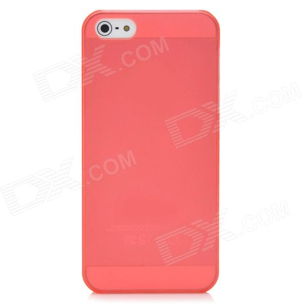 Protective Matte Frosted Plastic Back Case for Iphone 5 - Deep Pink mesh style protective back case for htc one x s720e deep pink