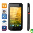 "A108 Android 4.1 WCDMA Bar Phone w/ 4.6"" Capacitive Screen, Wi-Fi, GPS and Dual-SIM - Black"