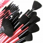 FC32001 Portable 32-in-1 Cosmetic Makeup Brushes Set - Deep Pink