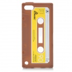 Cassette Tape Style Protective Silicone Back Case for iPod Touch 5 - Brown