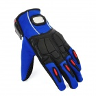 PRO-BIKER MCS-22 Full-Fingers Motorcycle Racing Gloves - Blue + Black (Pair / Size L)