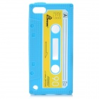 Cassette Tape Style Protective Silicone Back Case for iPod Touch 5 - Blue