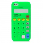 Cool Calculator Style Protective Silicone Back Case for Iphone 5 - Green