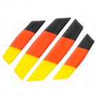 Germany National Flag Pattern Anti-Scratches Car Door Sticker - Black + Red + Yellow (4 PCS)