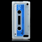 Cassette Tape Style Protective Silicone Back Case for iPod Touch 5 - Translucent White