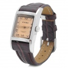 EYKI W8116G/L Square Woman's Artificial Leather Band Quartz Analog Waterproof Wrist Watch - Brown