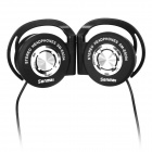 Senmai SM-E9204 Ear Hook Headphones w/ Clip - Black + Silver (3.5mm Plug / 116cm)