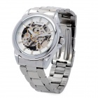 Daybird 3533 Stainless Steel Analog Hollow-out Mechanical Wrist Watch for Men - Silver