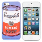 Campbell's Tomato Soup Can Style Protective PC Back Case for iPhone 5 - Blue
