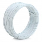 Zinc Electroplate Iron Wire Tie - White (90M)