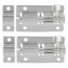 Quality Stainless Steel Door Cabinet Latch - Silver (2 PCS)